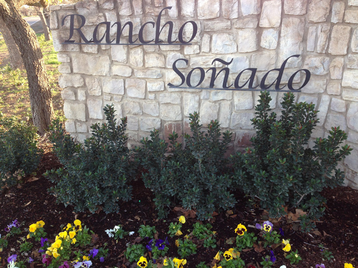Rancho Sonado Oeste Sign